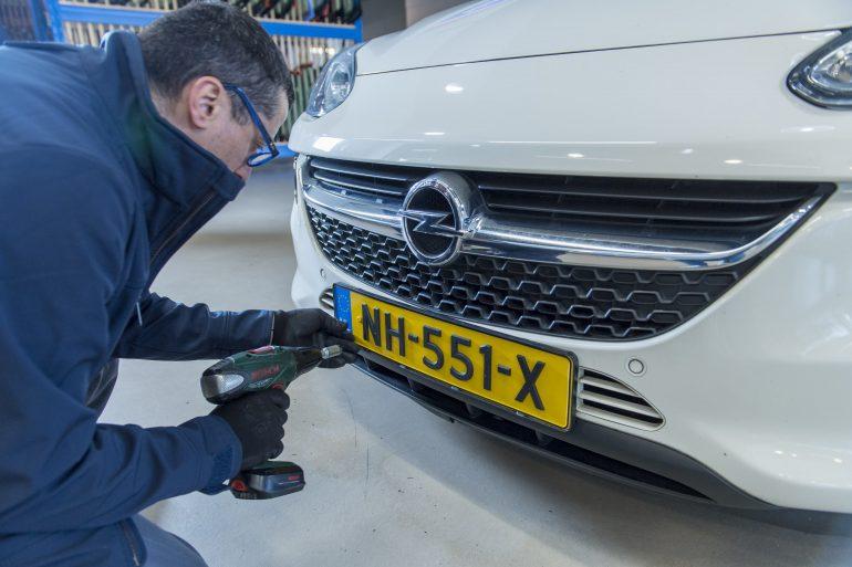 Antidiefstal kentekenplaat Utrecht Autotaalglas